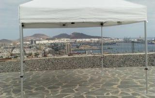 Mas Sombra - Instalacion Carpa Plegable en Las Palmas