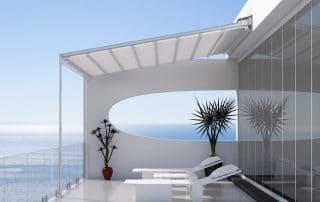 Pergola tensada moderna para terraza - Las Palmas - Mas Sombras
