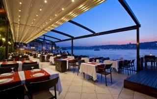 Pergola tensada para restaurante- Las Palmas - Mas Sombras