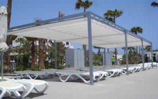 Pergolas de aluminio en espaicio abierto, Las Palmas - Mas sombra