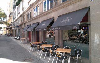 Toldo punto recto para negocios Las Palmas - Mas Sombras